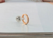 Princess cut CZ Stainless Steel Eternity Wedding Band Ring Silver/Gold/Rose gold