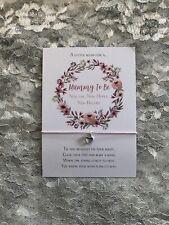 Mummy To Be Wish Bracelet Gift Heart Charm Bracelet Pregnancy Gift