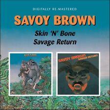 Savoy Brown - Skin N Bone / Savage Return [New CD] UK - Import
