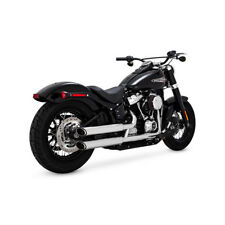 Vance & Hines Twin Slash Slip-Ons Chrom, für Harley-Davidson Softail 18-19