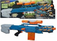 NERF Zombie Strike ZED Squad Longshot CS-12 Large Blaster Ages 8+ Toy Gun Play