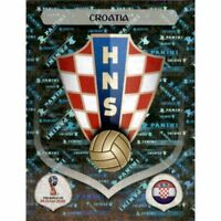 Panini WM 2018 312 Kroatien Croatia World Cup WC 18Wappen Logo Glitzer