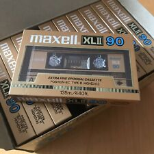 NOS Maxell XLII 90 Cassette Tape 10 Pack Box sealed tapes