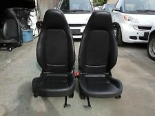 Smart Car Fortwo Passion Pure OEM Pair of Left & Right Seats Black Vinyl & Mesh