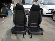 Smart Car Fortwo Pion Pure Oem Pair Of Left Right Seats Black Vinyl Mesh