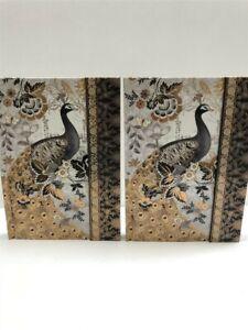 Lot of 2 Punch Studio Magnetic Closure Journals (Moonlight Peacock) 59208