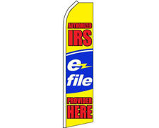 Authorized IRS E-File Provider Here Swooper Super Feather Advertising Flag