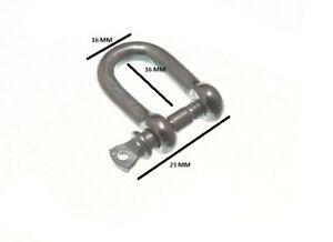 D Lucchetto U Lock e Perno Filo Corda Fermaglio 4mm 5/32 BZP Pacco Misura 12