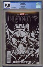 Infinity 1 CGC 9.8 Mark Brooks Sketch Variant Deadpool B&W Avengers Infinity War