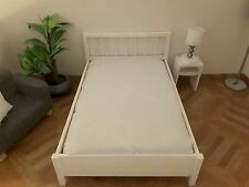 barbie doll size white wooden bed for dolls....