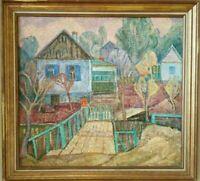 Tableau ancien pointilliste impressionniste  russe naïf Kesler Crimée