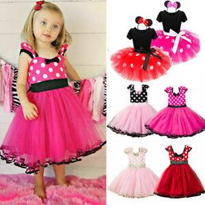 Kids Babys Girls Minnie Mouse Tutu Tulle Dress Casual Birthday Child Mini Skirt
