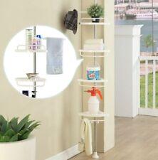 4tier Bathroom Shower Corner Upright Hanging Caddy Shelf Pie Rack Storage Holder