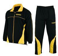 EVO Mens Tracksuit Set Gym Bottoms Jogging Sports Zipper Trouser Football Casual