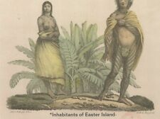 "*Postcard-""Inhabitants of Easter Island"" -*Chili- (N24)"