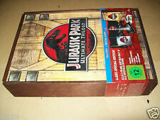Jurassic Park Trilogy Wooden Box  Limited 6-discs Edition Gift Set NEW Sealed