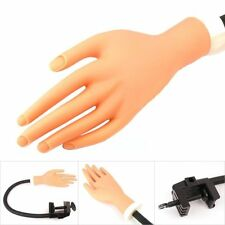 USA Best Quality Nail Pratice Adjustable fake Hand Nail art training With Clip