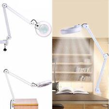 Swivel Swing Arm 8X Magnifier Desk Workbench Clamp Lamp Light Magnifying Len USA