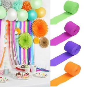 10M Crepe Paper Streamers Party Decorations Wedding Birthday Rolls