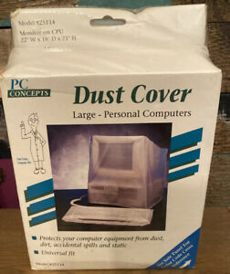 Vintage Dust Covers For Large Personal Computer & Large Printer Universal Fit