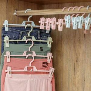 5X Metal Clip Coat Hangers Clothes Closet Pant Trousers Skirt Good Rack C6P9