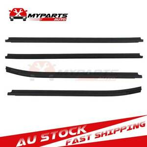 4 Weatherstrip Window Moulding Trim Seals For Toyota Hilux Double Cab 2005-2015