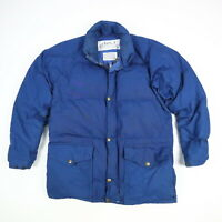 Vintage 80s Class-5 Down Puffer Parka Jacket Blue Mountaineering Men's SMALL