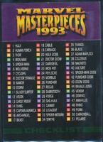 1993 Marvel Masterpieces Trading Card #90 Checklist
