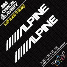 2 x Alpine Audio Sound Sticker Vinyl Car JDM skyline silvia EK9 EP3 S2000