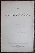 Un Llamada de ayuda de Sajonia 1866 Historia Estudios regionales Política