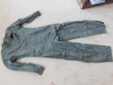 USAF NOMEX GREEN FLYER'S FLIGHT SUIT SUMMER CWU 27/P SZ 42L