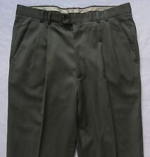 Lanificio Di Tollegno Mens Wool Super 100s Pleated Pants - Tag 34/Actual 35x23.5