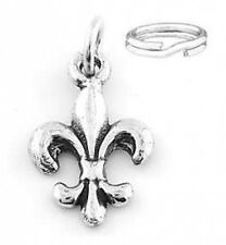 STERLING SILVER FLEUR DE LIS CHARM WITH SPLIT RING
