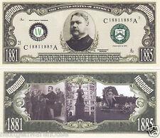 Chester Arthur 21st US President History Bill # P21
