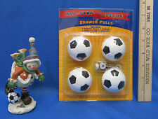 New Soccer All-Star Decor Drawer Pulls Knobs & Snowman Firgurine Playing Soccer