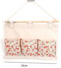 Hanging Organizer Bag Stationary Storage 3 Pocket Fabric Sundries Wall Door