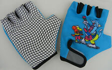 Silicon Synthetic / Printed Lycra Cut Finger Cycle Gloves Cyl562 Children