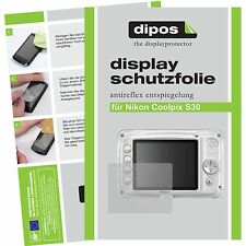 2x Nikon Coolpix s30 lámina protectora mate protector de pantalla antireflex encaja perfectamente