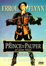The Prince and the Pauper (1937) - Errol Flynn, Claude Rains - DVD NEW
