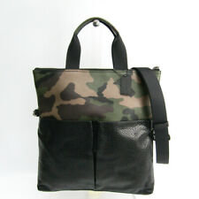 Coach CHARLES FOLDOVER TOTE WITH CAMO PRINT F29706 Men's PVC,Leather To BF504076