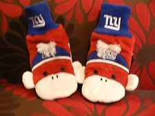 New York Giants Football Monkey Mittens Forever Collectibles NY NFL Red Blue