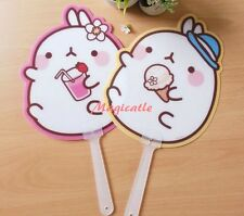 Molang Rabbit Plastic Handy Fan - 2 Pieces