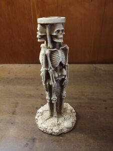"8"" Gothic Skeleton Fantasy Candle-holder Sculpture  3 in 1 3D Vintage Spencers"