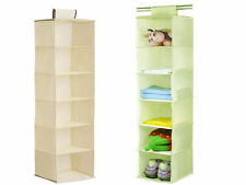 10 Section Shelves Hanging Wardrobe Shoe Garment Organiser Storage Clothes Tidy