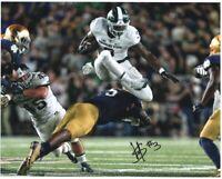 LJ Scott Autographed MSU Michigan State Spartans 8x10 VS. ND Photo Auto ~ w/COA