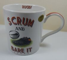 "NOVELTY RUGBY COFFEE TEA MUG ""SCRUM & BARE IT"" BOXED GIFT"