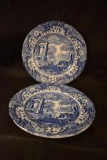 STUNNING VINTAGE SPODE ITALIAN DESIGN BLUE & WHITE CERAMIC X2 SMALL PLATE