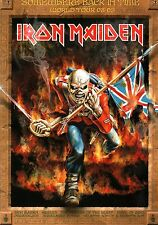 IRON MAIDEN 2009 SOMEWHERE BACK IN TIME TOUR CONCERT POSTER PROGRAM / NMT 2 MNT