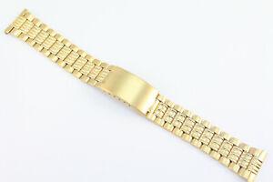 20mm Uhrenarmband-Edelstahlband-Uhrenarmbänder Goldfarben Top Angebot