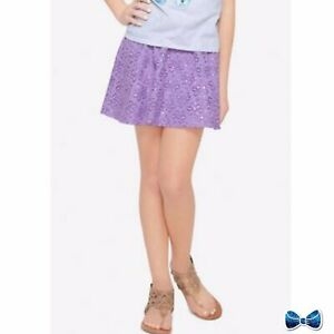 Justice Girl's Size 18 Purple Sequined Lace Skirt New With Tags
